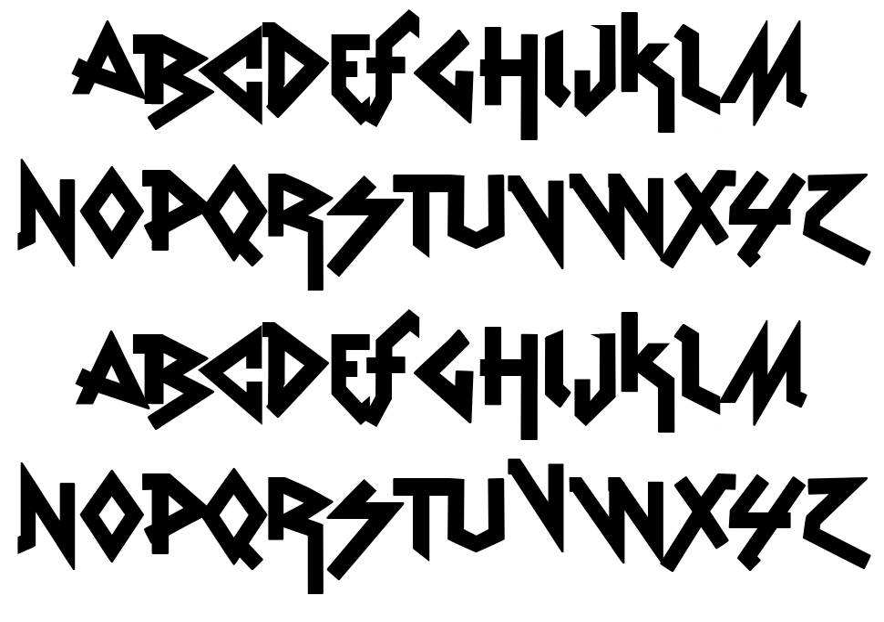 VTKS Rude Metal font