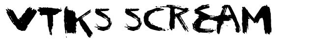 Vtks Scream font