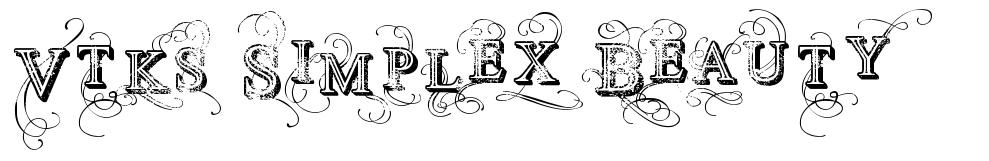Vtks Simplex Beauty font
