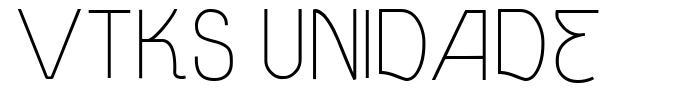 Vtks Unidade font