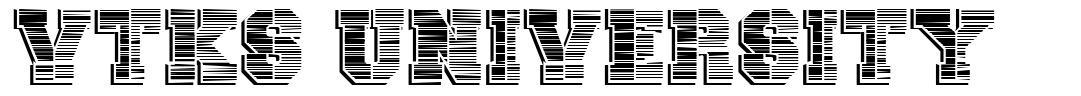Vtks University font