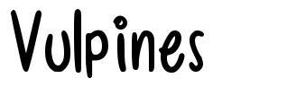 Vulpines font