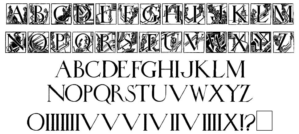 Wadsworth's Industria font