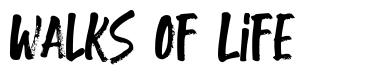 Walks Of Life font