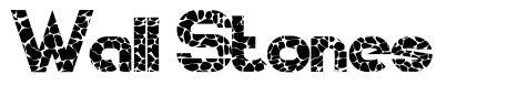Wall Stones font