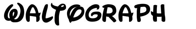 Waltograph шрифт