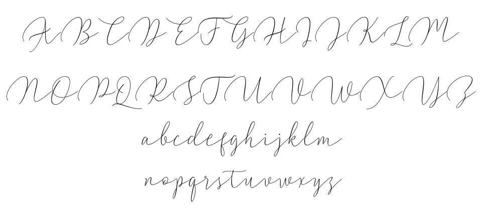 Walty Script font