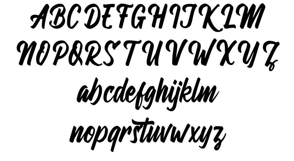 Wandertucker フォント