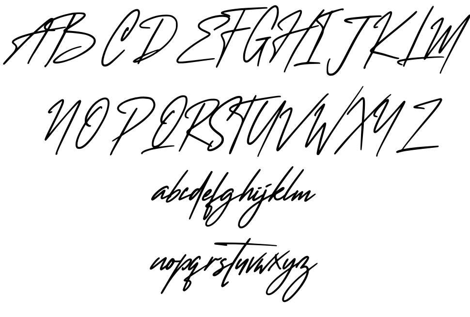 Wanted Signature font