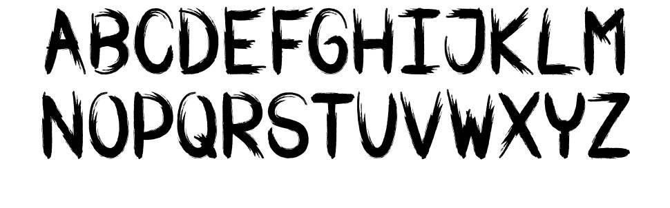 War Brush font