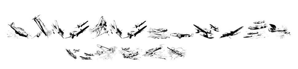 War II Wairplanes schriftart