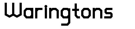Waringtons czcionkę