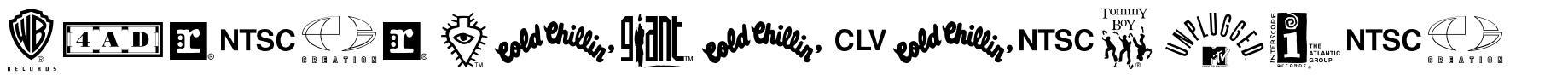 Warner Logo Font Nine 字形
