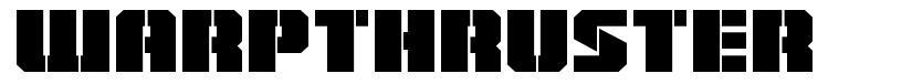 Warpthruster font