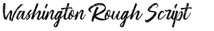 Washington Rough Script font
