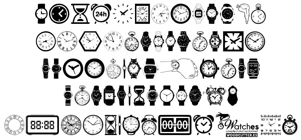Watches font