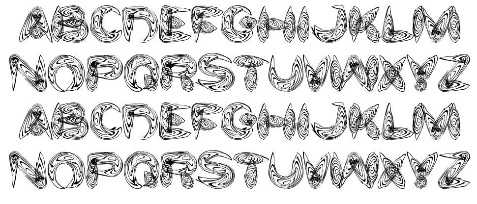 Water and Gasoline font