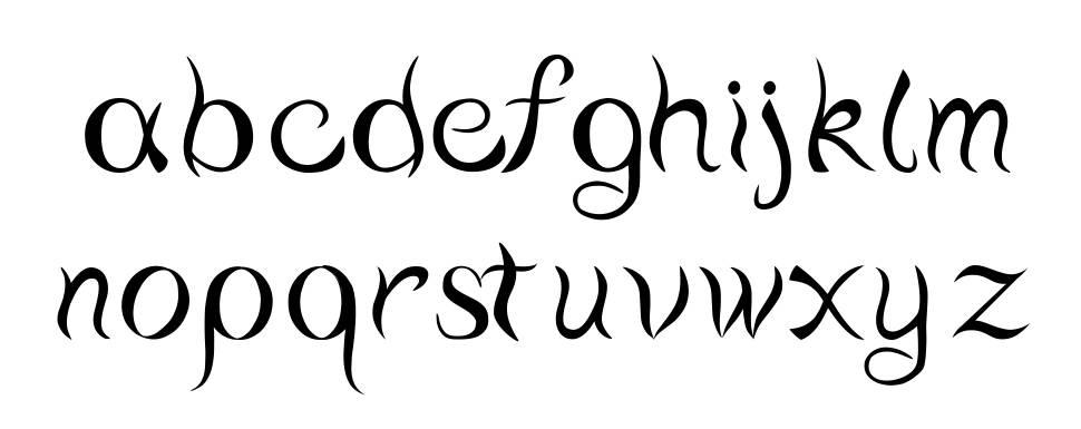 Water script font