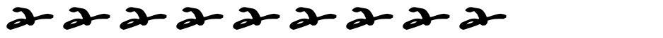 Watermark font