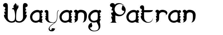 Wayang Patran font