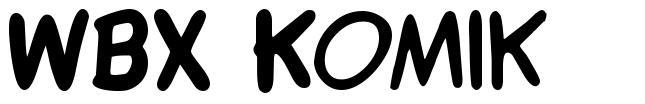 WBX Komik font