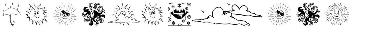 Weather Bats font