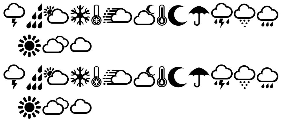 Weather Symbols font