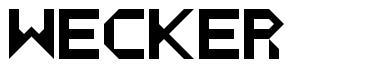 Wecker font