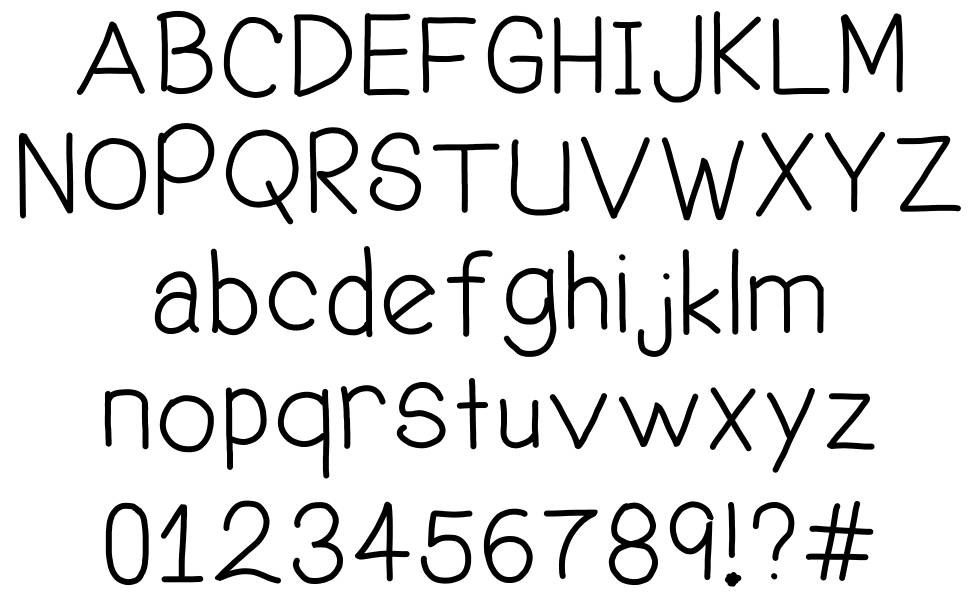 Welcome Me font