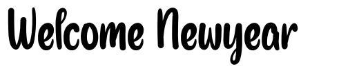 Welcome Newyear 字形