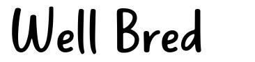 Well Bred font