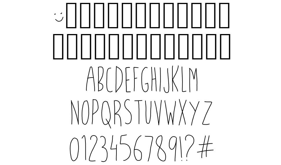 What the fish font