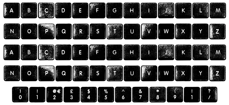 Where My Keys font