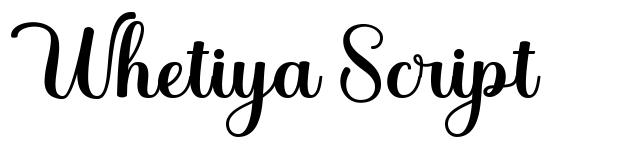 Whetiya Script font