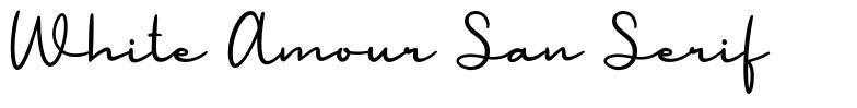 White Amour San Serif font