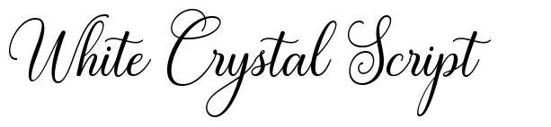 White Crystal Script font