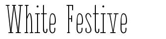 White Festive font