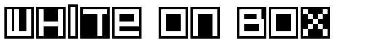 White On Box font