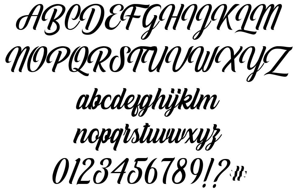 White Smith font