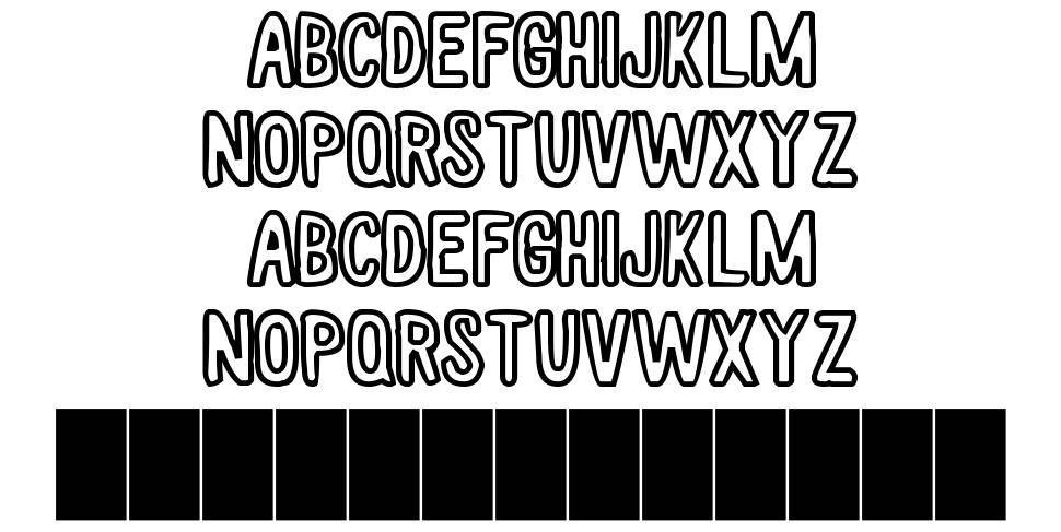 White Wood Hollow font