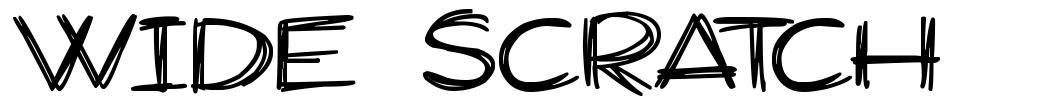 Wide Scratch шрифт