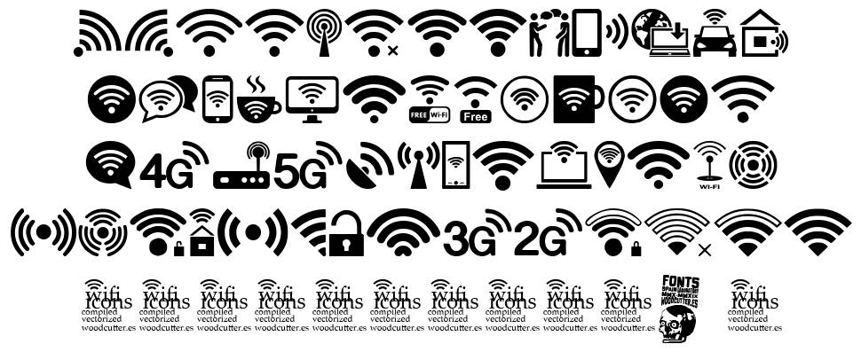 Wifi Icons fonte