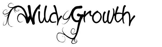 Wild Growth font