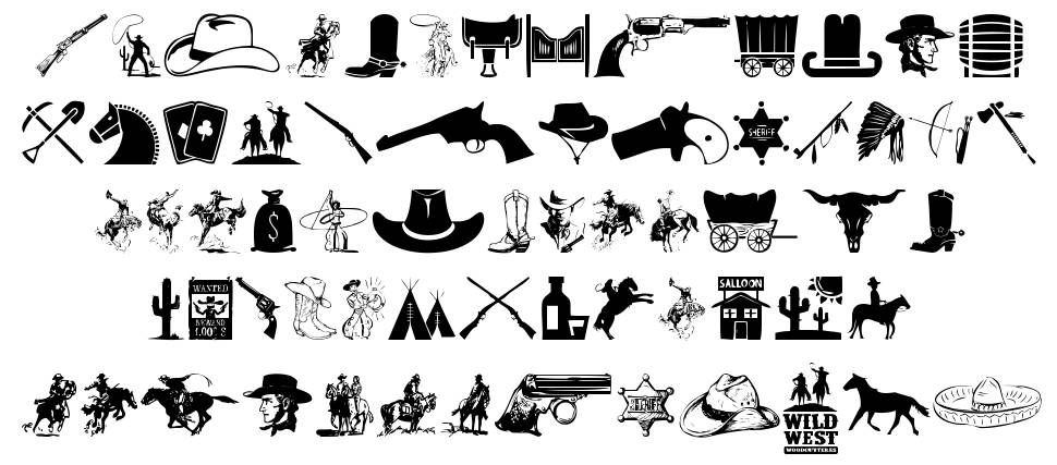 Wild West Icons フォント