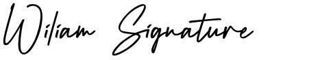 Wiliam Signature
