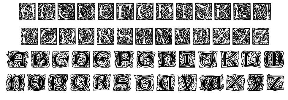 William Morris Initials schriftart