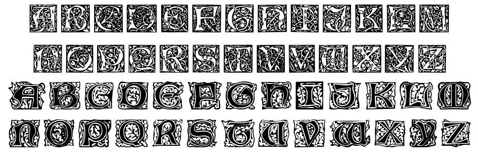 William Morris Initials font