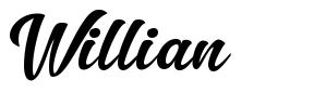 Willian font