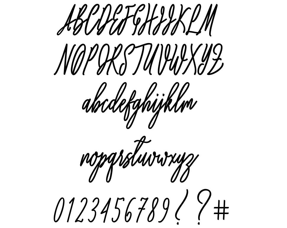 Willona Love font
