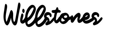 Willstones font